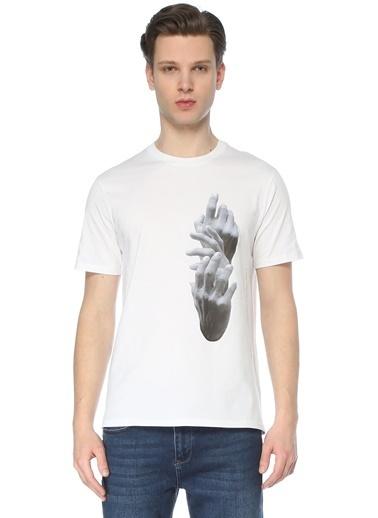 Neil Barrett Neil Barrett  Bisiklet Yaka Baskılı T-shirt 101633720 Beyaz